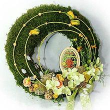 Dekorácie - Velikonoční věnec - Mecháček - 10314749_