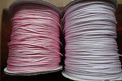 Galantéria - Nylonová šnúrka ružová 1,0 a 1,5mm (1,5mm) - 10311307_