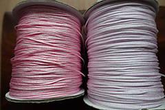 Galantéria - Nylonová šnúrka ružová 1,0 a 1,5mm (1,5mm) - 10311309_