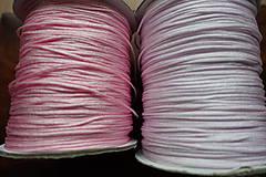 Galantéria - Nylonová šnúrka ružová 1,0 a 1,5mm (1,5mm) - 10311310_