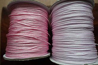 Galantéria - Nylonová šnúrka ružová 1,0 a 1,5mm (1mm) - 10311307_