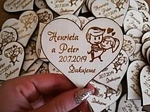 Darčeky pre svadobčanov - Svadobná magnetka - párik - 10312807_