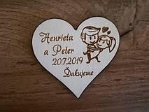 Darčeky pre svadobčanov - Svadobná magnetka - párik - 10312808_