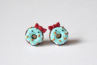 Náušnice - Donut (Dievčatko) - 10312658_