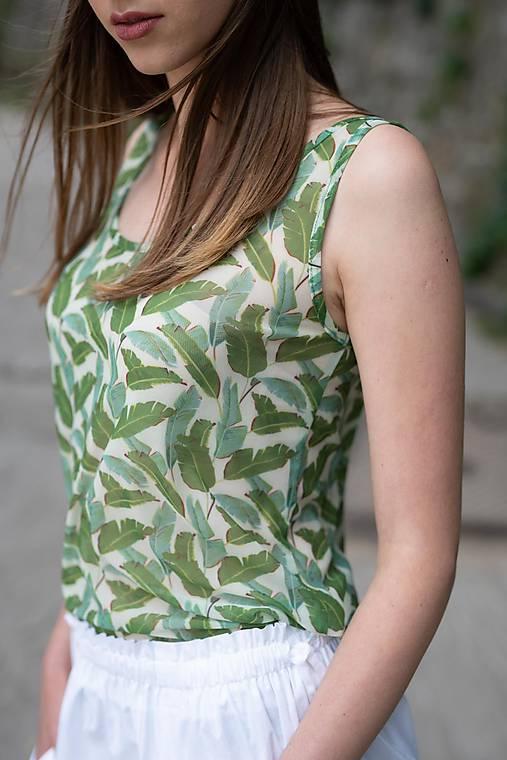 Sieťkové tričko s potlačou Green Collection