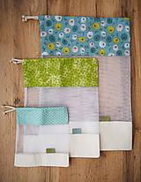 Úžitkový textil - Sada vreciek na potraviny (Tyrkysová) - 10314278_