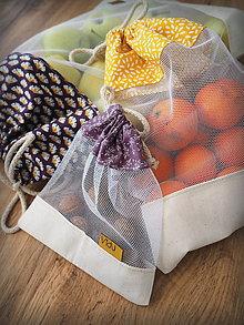 Úžitkový textil - Sada vreciek na potraviny (Žltá) - 10314275_