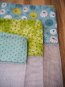 Úžitkový textil - Sada vreciek na potraviny (Tyrkysová) - 10314277_