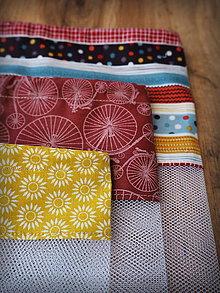 Úžitkový textil - Recyklovateľné vrecká sada (Červená) - 10314281_