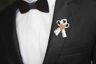 Pierka - Bielo - krémové vintage svadobné pierka - 10312267_