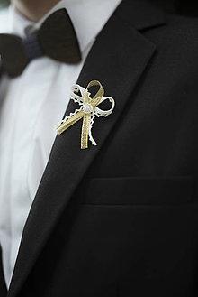 Pierka - Zlaté svadobné pierka - 10312290_