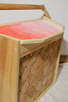 Kabelky - Dámska retro kabelka - červená - 10314184_