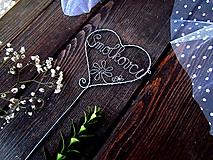 Dekorácie - zápich srdce - 10311480_
