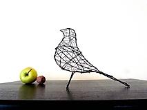 Socha - minimalistický vtáčik * 26 cm - 10311845_