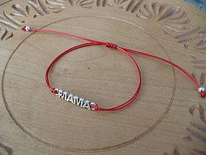 Náramky - jednoduchý šnúrkový náramok Mama - 10311989_