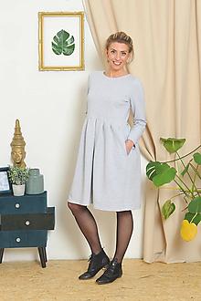 Šaty - Teplákové šaty NELA šedé e3bc6964e7