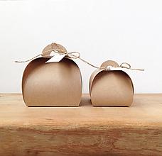 Darčeky pre svadobčanov - Krabička na darček s menovkou - veľká - 10312708_