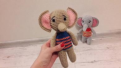 Hračky - sloníky 2 x inak (Hnedá) - 10315248_