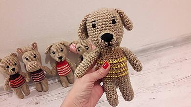 Hračky - mini  ZOO    5 x inak (psík hnedý svetrík) - 10315278_