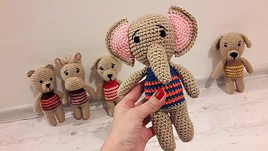 Hračky - mini  ZOO    5 x inak (sloník) - 10315283_