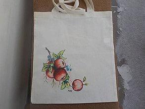 Nákupné tašky - Nákupná taška-jablká - 10317572_