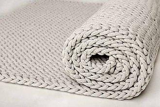 Úžitkový textil - Veľký pletený koberec - 10316624_