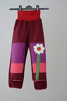 Detské oblečenie - Nohavičky pre sestričky alias softshellky - 10320049_