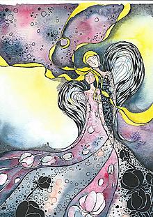 Kresby - ružová paní - 10320193_