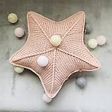 Úžitkový textil - Vankúš - hviezda - 10317326_