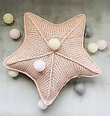 Úžitkový textil - Vankúš - hviezda - 10317327_