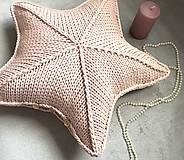 Úžitkový textil - Vankúš - hviezda - 10317328_