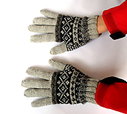 Rukavice - Rukavice sivé prstové merino - 10318969_