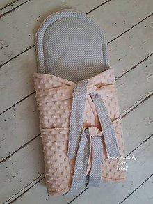 Textil - Zavinovačka s istiacou vložkou na  zips -  minky/bavlna - 10318052_