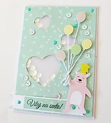 Papiernictvo - pohľadnica k narodeniu dieťatka - 10315658_