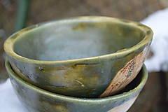 Nádoby - misky raňajkové, zelené, medienkové - 10319062_