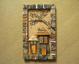 Obrazy - Domy pod košatým stromom - 10315905_