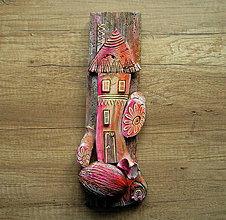 Dekorácie - Domček z ružovej rozprávky - 10316063_
