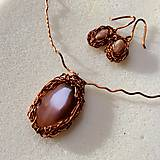Sady šperkov - sada medených šperkov s achátom - 10316199_