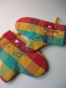 Úžitkový textil - kočíčí  chňapky - 10317415_