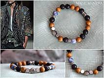 Šperky - Pánsky mantra náramok: Amazonit, Jaspis,Láva a Sodalit - 10319661_