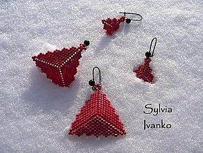Náušnice - ... trojuholníčky pre mamku a dcérku ;0) - 10319731_