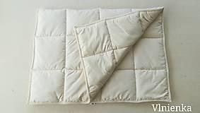 Úžitkový textil - Paplón VLNIENKA 200 x 200 cm LUXUS 100% MERINO a 100% SÝPKOVINA - 10316795_