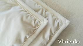 Úžitkový textil - Paplón VLNIENKA 200 x 200 cm LUXUS 100% MERINO a 100% SÝPKOVINA - 10316798_