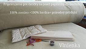 Úžitkový textil - Paplón VLNIENKA 200 x 200 cm LUXUS 100% MERINO a 100% SÝPKOVINA - 10316816_