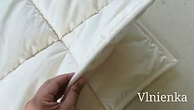 Úžitkový textil - Paplón VLNIENKA 200 x 200 cm LUXUS 100% MERINO a 100% SÝPKOVINA - 10316818_