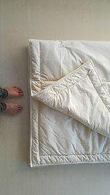 Úžitkový textil - Paplón VLNIENKA 200 x 200 cm LUXUS 100% MERINO a 100% SÝPKOVINA - 10316836_
