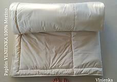 Úžitkový textil - Paplón VLNIENKA 200 x 200 cm LUXUS 100% MERINO a 100% SÝPKOVINA - 10319238_