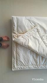 Úžitkový textil - Paplón VLNIENKA 200 x 240 cm LUXUS 100% MERINO a 100% SÝPKOVINA - 10319428_