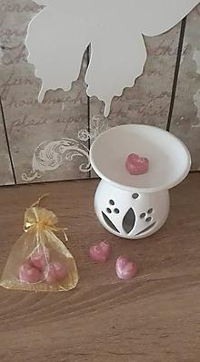 Svietidlá a sviečky - Vonné vosky - Valentín - 10319824_