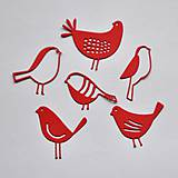 Materiál ručne robený - Výrezy Vtáčiky - 10316629_